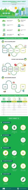 Urban Gardening Infographics